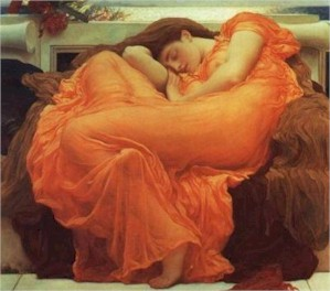 """Flaming June"" by Lord Deighton (23585 bytes)"